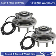 2 Front Wheel Hub Bearing 513326 For 4wd 2011 - 2014 Ford F-150 W/abs 7 Lug