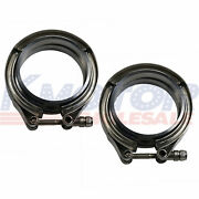 3and039and039 V-band Flange And Clamp Kit 2 Pcs Stainless Steel For Turbo Exhaust Downpipes