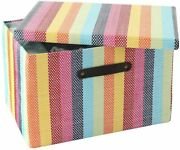 Thewarmhome Storage Box With Lid, Basket With Lid For Organizing, Decorative Bas