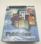 Vintage Computer Software Microsoft Publisher 3.0 Windows 95 And Automap Sealed