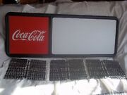 New 3ft Coca-cola Menu Board Sign W/3 Sets Of Coke Letters,numbers And Symbols
