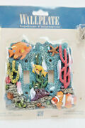 Vtg Tropical Fish Aquarium Beach 3d Double Light Switch Cover Plate New Sealed