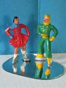 Pair Vintage Barclay Lead Miniature Skaters Free Shipping