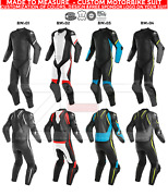 Brand New Moto 1and2 Piece Motorbike Racing Leather Suit W Protection Custom Suit