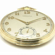 Hamilton 14k Cal.921 Vintage Pocket Watch Manual Wind 21jewels 46mm 1940and039s
