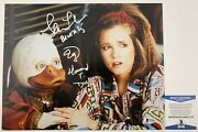 Lea Thompson And Ed Gale Dual Signed Howard The Duck 11x14 Photo Signed Beckett Co