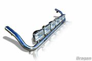 To Fit Man Tgx Xxl Cab Stainless Steel Roof Light Bar Style B + Rectangle Spots