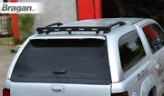 To Fit 2012 - 2016 Isuzu D-max Rodeo Black Rear Canopy Roof Bar + Flush Leds X5