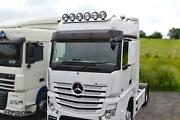 To Fit Mercedes Actros Mp4 Big Space Roof Bar + Flush Leds + Round Black Spots