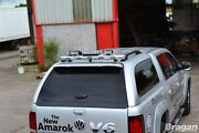 To Fit 2007 - 2012 Isuzu D-max Rodeo Stainless Steel Rear Canopy Roof Bar + Leds