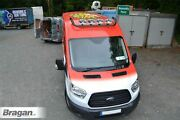 To Fit Ford Transit Mk8 2014+ Black Van Stainless Steel Roof Light Bar + Spots