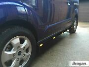 To Fit Ford Galaxy 1996 Black Side Bars + Amber Leds Lights Stainless Steel