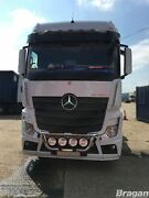 To Fit Mercedes Actros Mp5 19+ Grill Bar + Step Pad Truck Silver Stainless Steel