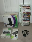 Vintage Xbox 360 Video Game System Console W/ Kinect Lot Awesome 24 Game Bundle