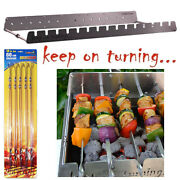 15 Skewer Automatic Rotating Bbq Rack Attachment Stainless Steel With Usb Port