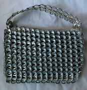 Handmade Older Purse Made With Beer Soda Pull Tabs Mexico Art Collection Piece