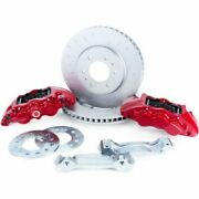 Alcon Bkf1559be11 6-piston Front Brake Kit W/red Calipers For Ford Raptor 2017
