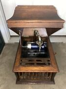 Early 1900's Vintage Edison Amberola Phonograph Cylinder Record Player