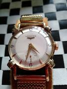 Longines Cal.22l Vintage Menand039s Watch 14k Manual Winding 1950and039s Mint Condition