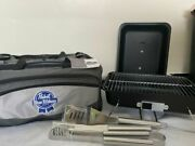 Pabst Blue Ribbon Beer Outdoor Grill New In Package W Utensils And Ice Cooler