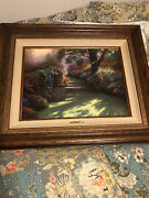 Autographed Pathway To Paradise Ii Master Highlightedthomas Kincade Painting.