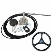 19 Ft Marine Engine Turbine Rotary Steering System Boat Mechanical Cable And Wheel