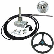 19 Ft Marine Planetary Gear Outboard Steering Helm With Cable And Steering Wheel