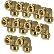 1/2-inch Pushfit Elbow 90-degree Push-to-connect Plumbing Fitting For Copper