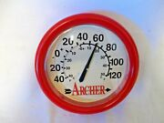 Archer Petroleum Co Lubricants Omaha Ne Neb Thermometer Mint Condition