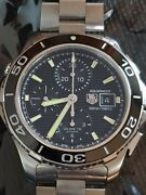 Tag Heuer Mens Chronograph Automatic Aquaracer-1650 Ft Water Resistant Perfect
