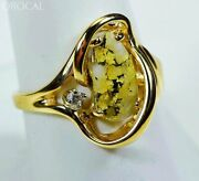 Gold Quartz Ladies Ring Orocal Rl784dq Genuine Hand Crafted Jewelry - 14k Gold