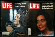 2 Vintage 1960's Life Magazines W/ Coretta King Martin Luther King Funeral