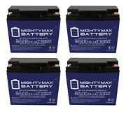 Mighty Max 12v 22ah Gel Battery Replacement For Wagan 2412 900a Jumper - 4 Pack
