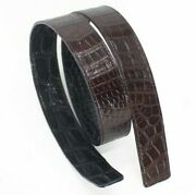 Replacement Belt Crocodile Leather Double Side No Jointed, No Buckle, W 3.2cm