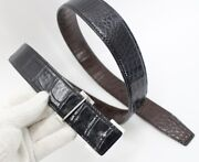 Replacement Belt Crocodile Leather Double Side No Jointed, No Buckle, W 1.5