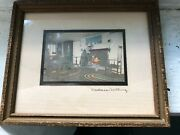Wallace Nutting Hand Painted Tin Type Photography Antique Artandnbsp