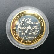 2009 Robert Burns £2 Two Pound Silver Proof Royal Mint Coin
