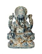 Antique Ganesha Statue Volcanic Stone Hand Carving Indoor Or Outdoor Decorative