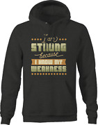 Im Strong Because I Know My Weakness Hoodies For Men Dark Grey