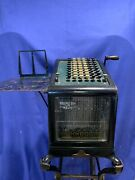 1898 Rare Antique Burroughs Adding Machine Model 4 With Cast Iron Stand A658