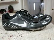 2009 Mens Nike And039zoom Rival Sand039 383822-002 Black Spiked Track Shoes Size 11 Eur 45