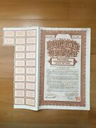 👍 China 1934 Shanghai Government 1000 Bond Loan With Coupons Uncancelled