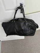 Mulberry Weekend Travel Bag Black Congo Leather Clipper All Purpose Bag