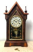Restored Antique New Haven Cathedral Mantel Clock 1818