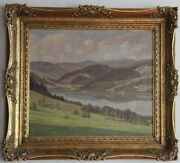 Heinrich Hoffmann 1859-1933 Schwarzwald Painting Titisee Approx. 1920