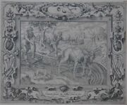 October. Der Month Oktober. The Ploughs Fields . Copper Engraving By Pieter