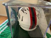 Signed Nfl Mini Helmet By Barry Sanders ,josh Allen And Bruce Smith