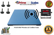 Prime Ntep Wireless 48 X 48 4and039 X 4and039 Floor Scale 1000 Lb X .2 Lb