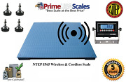 Prime Ntep Wireless 48 X 48 4and039 X 4and039 Floor Scale 2500 Lb X .5 Lb
