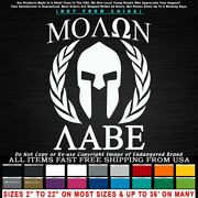 Molon Labe Spartan Helmet With Leaves 3 Donand039t Tread Expect Sticker Decal